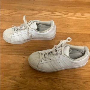 adidas Shoes - White Adidas Superstar Sneakers